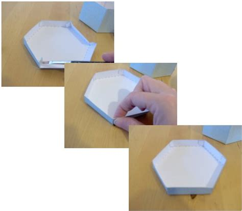 How To Make A Hexagon Out Of Paper - things to make and do make and decorate a hexagonal box