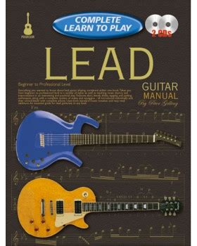 learn guitar yourself progressive complete learn to play lead guitar manual