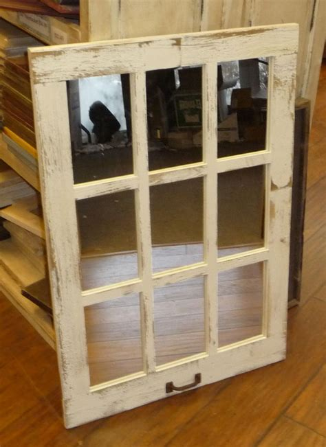 barn wood 9 pane window mirror vertical rustic home decor