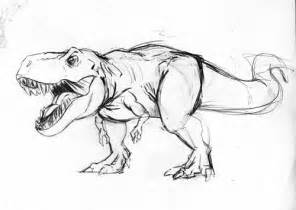the gallery for gt dinosaurs t rex drawing