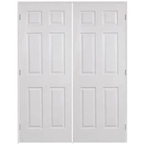 interior double doors home depot steves sons 48 in x 80 in 6 panel textured hollow core