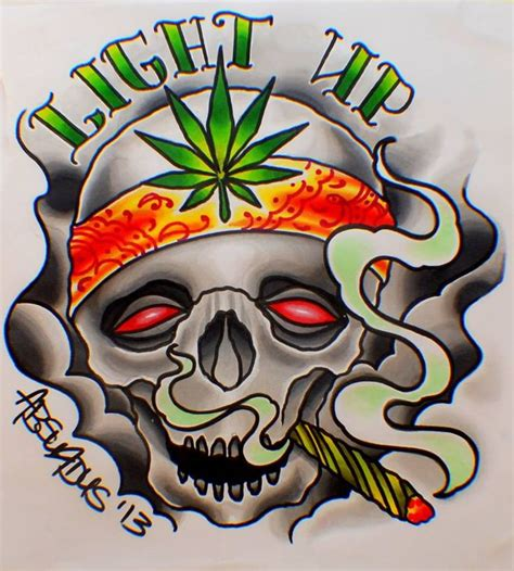 smoking weed tattoo designs awesome designs smoke de till