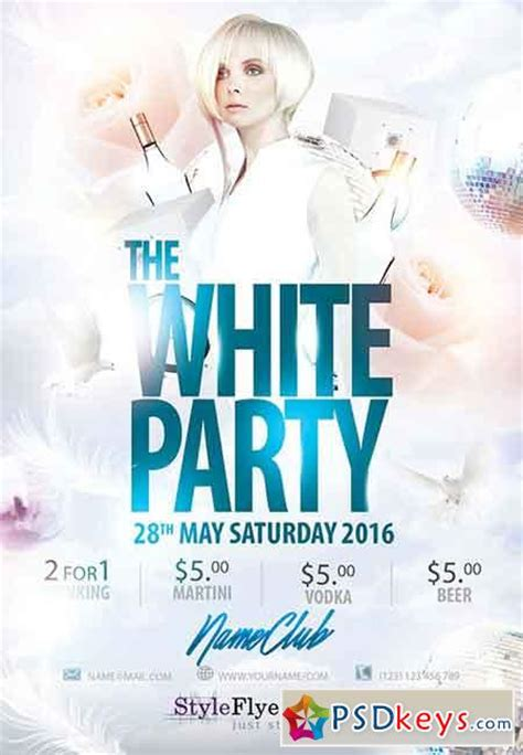 white party psd flyer template facebook cover 187 free