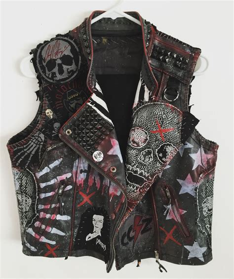 Black Rock Vest by Rocker Vest Rock Vest Heavy Metal Vest Studded