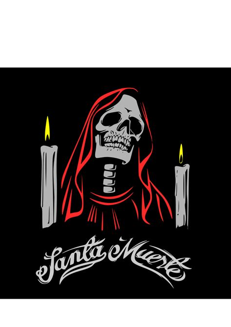 Santa Muerte Of clipart santa muerte