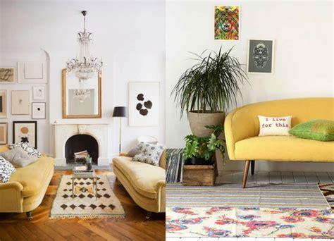 Home Interior Design Vintage by 20 Salons Avec Un Canap 233 Jaune Joli Place
