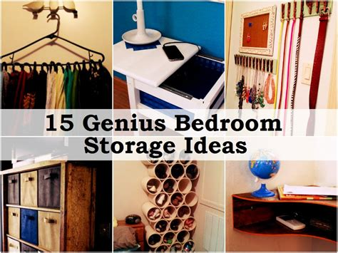 Diy Storage Ideas For Small Bedrooms by 15 Genius Bedroom Storage Ideas Handy Diy