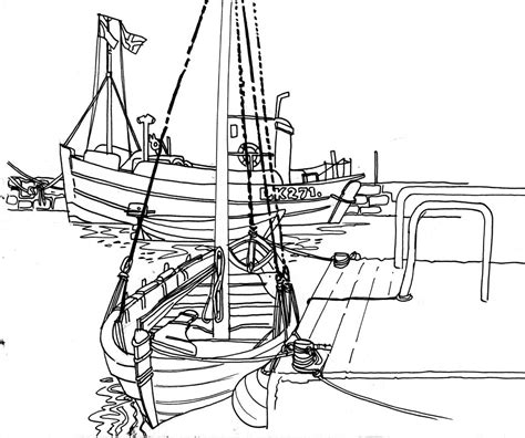 tow boat drawing orkney and shetland sketch holiday sketchcrawl