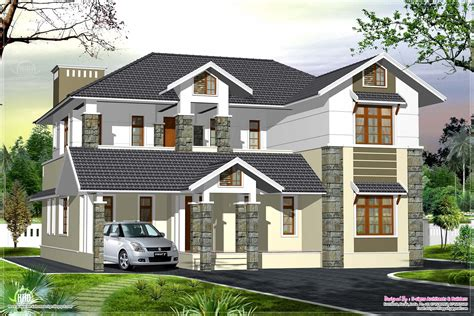 luxury kerala style villa exterior design home kerala plans
