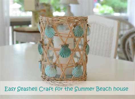 seashell decorations home seashell craft for nautical beach house decorating
