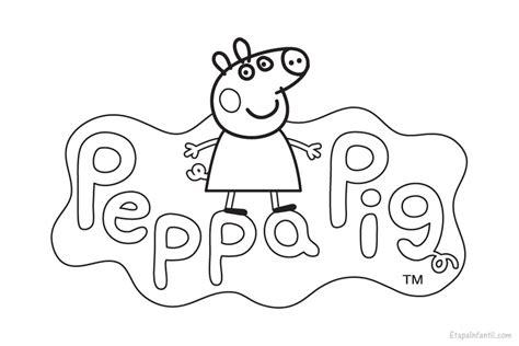 dibujos para colorear pdf dibujo peppa pig para colorear etapa infantil