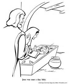 christmas story coloring pages joseph mary