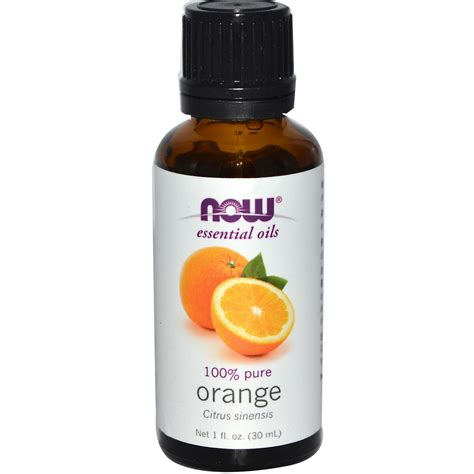 now foods essential oils orange 1 fl oz 30 ml iherb