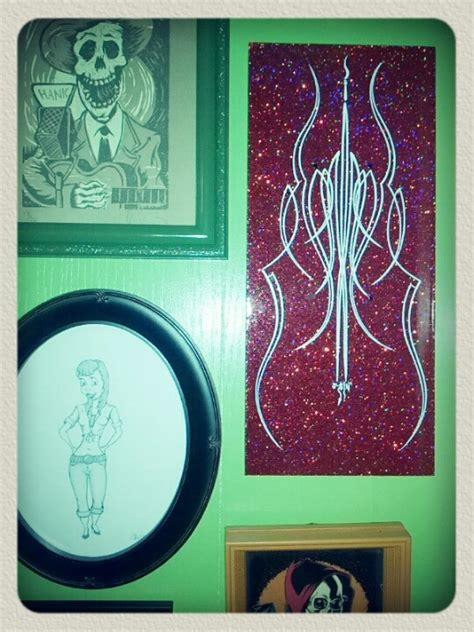 tattoo flash wall art hallway wall art lowbrow kustom kulture pinstripe
