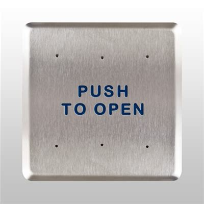 norton engineering file cabinet bea 6 quot square stainless steel push plate switch assembly