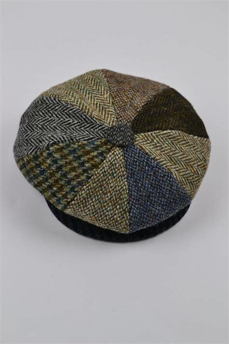 Patchwork Tweed Cap - harris tweed baker boy cap the house