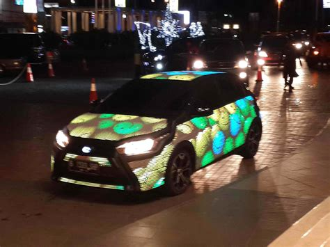 Lu Led Mobil Yaris all new toyota yaris dipasangkan led sekujur badan