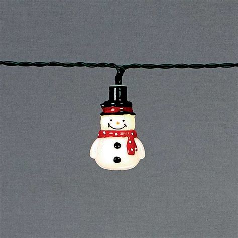Christmas Snowman String Lights Battery Powered Warm White Snowman String Lights