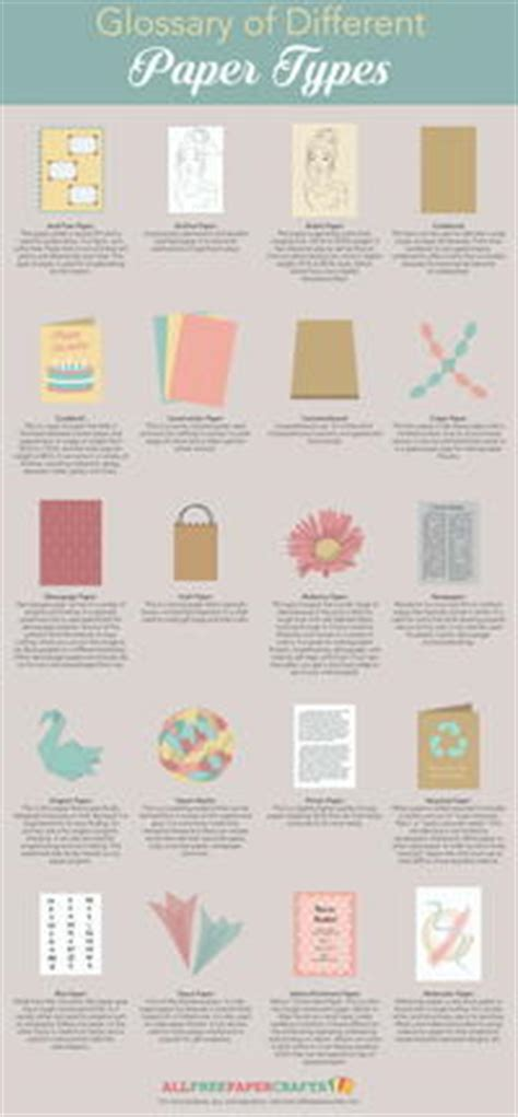 different paper crafts glossary of different types of paper allfreepapercrafts