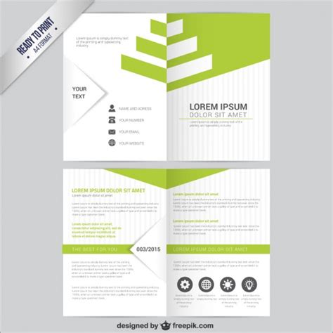 free picture templates leaflet template vector free