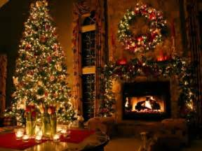 tree and fireplace