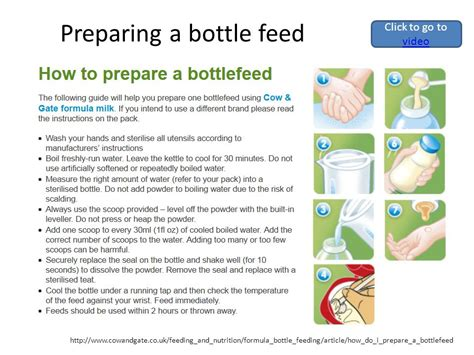 How Not To Bottle Feed by Preparing A Bottle Formula Feed Ppt