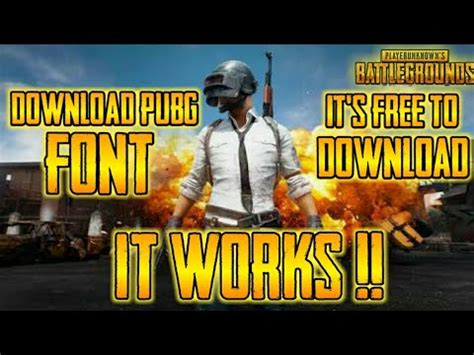 pubg font how to pubg font for free for android ios pc