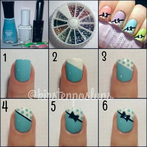 nail art rhinestones tutorial 25 nail art designs tutorials step by step for beginners