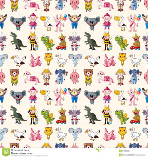 seamless animal pattern vector seamless animal pattern stock image image 31655321