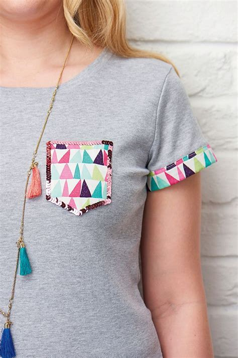 t shirt fabric pattern sequin and fabric tee shirt pocket sewing pattern my