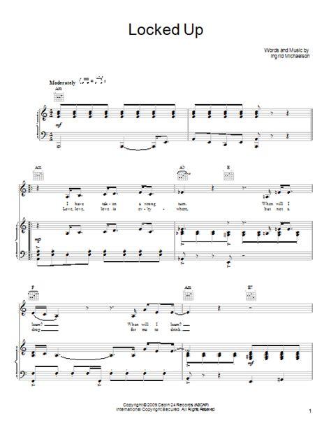 printable lyrics to locked away locked up sheet music direct