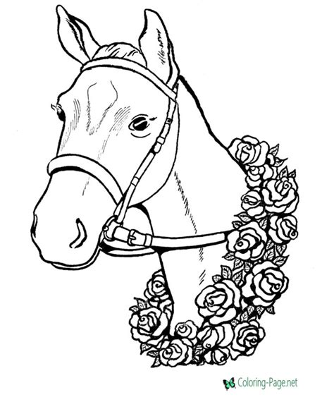 coloring pages of race horses winner race horse coloring pages