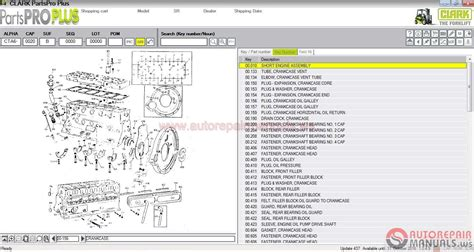 Auto Repair Manuals Clark Forklift Parts Pro Plus V437