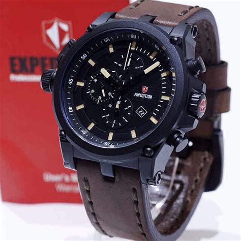 Tali Jam Tangan Ac Expedition jam tangan expedition e 6621 coklat hitam alexandre christie