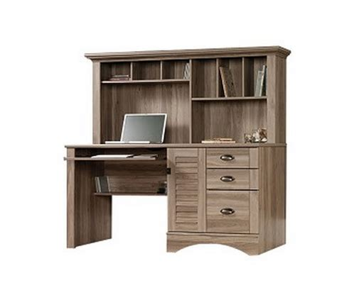 sauder computer desk with hutch sauder harbor view computer desk with hutch 415109