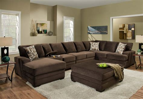 American Cribs by American Furniture 3500 Sectional Sofa With 6