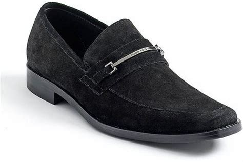 hugo suede loafers by hugo carl suede loafers in black for lyst