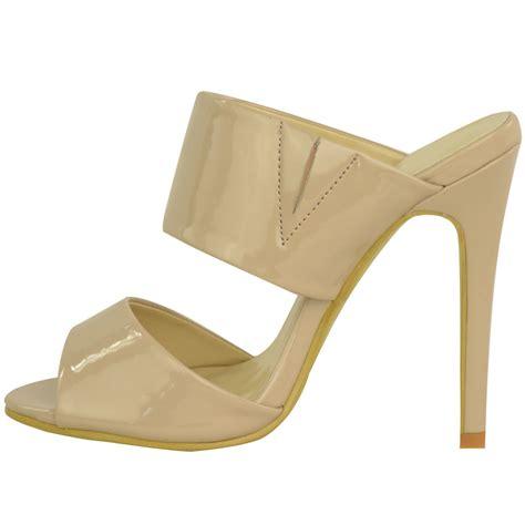 backless high heel shoes womens high heel stiletto backless peep toe barely