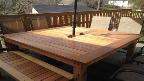 Cedar Patio Table Cedar Patio Table Plans Patio Table Building Plans Square