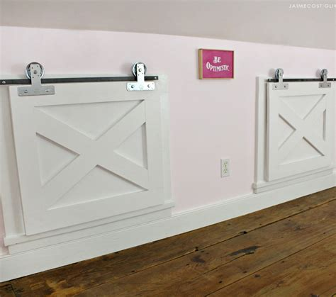 Barn Door Window Covering Plans - diy how to make barn door window coverings building strong