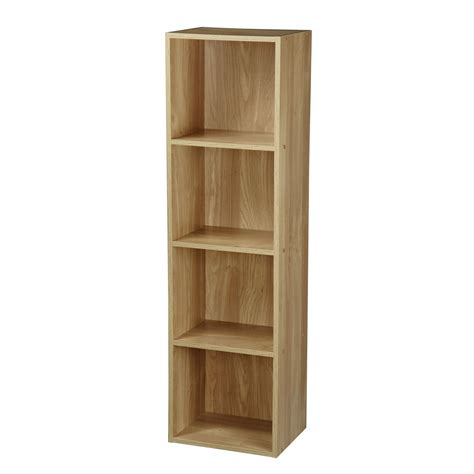 One Shelf Bookcase by 1 2 3 4 Tier Wooden Bookcase Shelving Display Storage