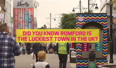 lottery number phone booth appears  romford town