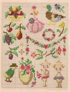 Bathroom Cross Stitch Patterns Free Sentimental Baby Free Vintage Colored Cross Stitch Pattern