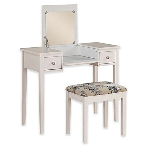 linon home decor vanity set with butterfly bench black linon home folding top 2 piece vanity set with butterfly