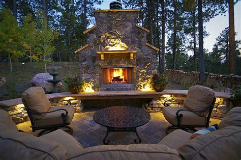 landscape lighting layout lighted outdoor living area fredell enterprises inc