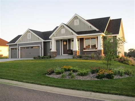 craftsman style rambler craftsman exterior minneapolis byexterior colors for ranch style