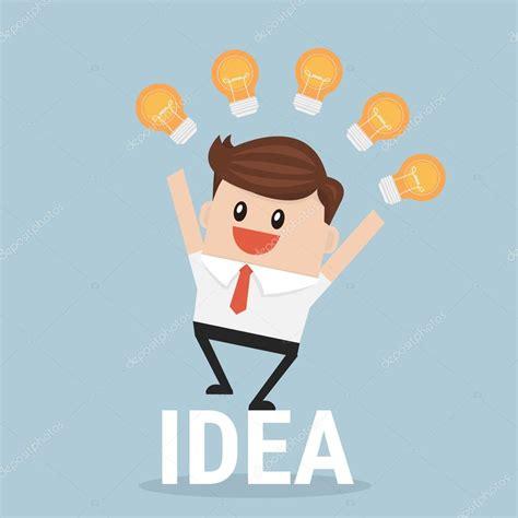 ideas nuevas empresario con muchas ideas nuevas ilustraci 243 n de