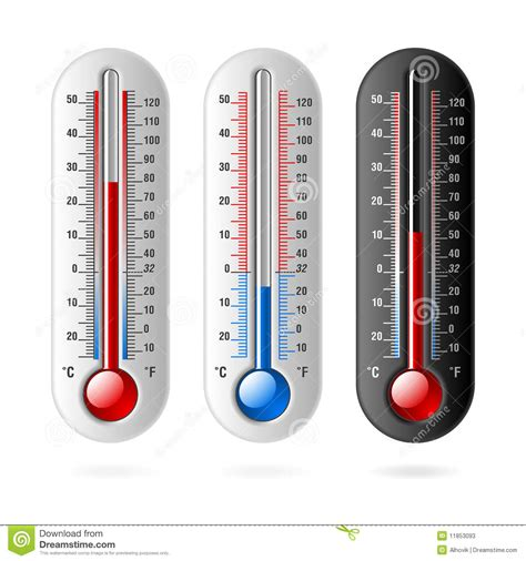Termometer Fahrenheit thermometers celsius and fahrenheit stock vector