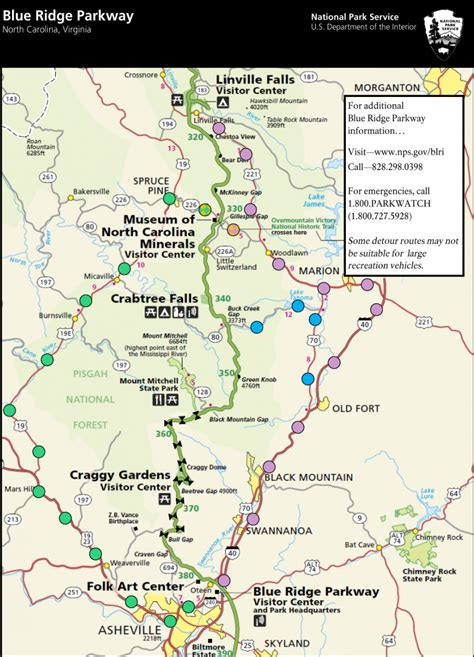 map of blue ridge parkway blue ridge parkway road closure and asheville nc on