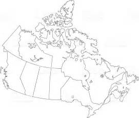 white canada map canada simple outline map on white background stock vector